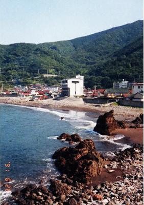 浜からの眺め