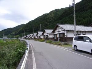 町営住宅の町並み