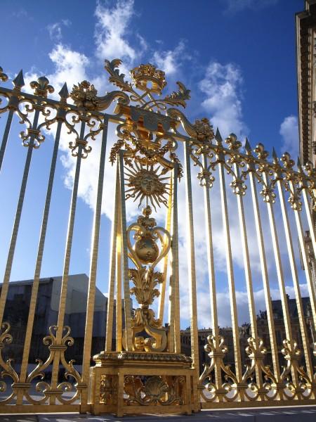 ヴェルサイユ宮殿の門(金箔)