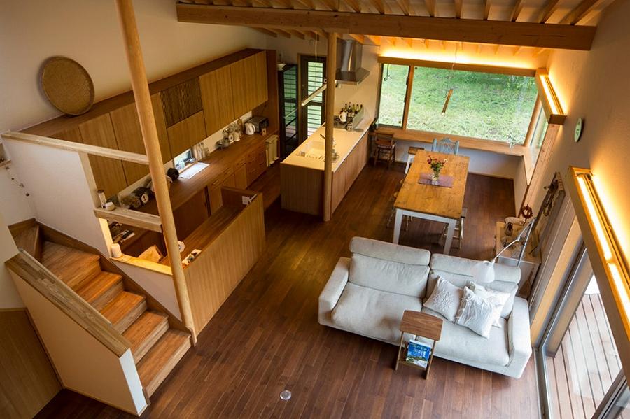 茅野の家-居間、食堂