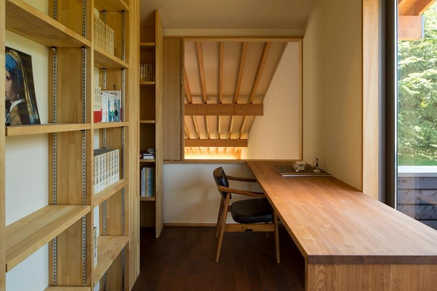 茅野の家-書斎